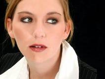 Alte schöne Zwanzig Fünfjahresgeschäftsfrau Stockbild