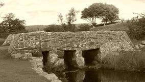 Alte Scharnierventilbrücke auf Dartmoor in Süd- West-England Lizenzfreie Stockfotos
