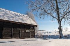 Alte Scheune auf einem Bauernhof Stockfoto