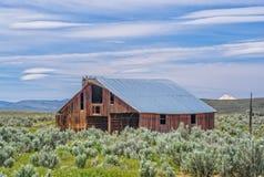 Alte Scheune backen an Oven Road in Mittel-Oregon Stockfotografie