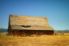 Alte Scheune in Montana lizenzfreie stockfotos
