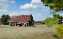 Alte Scheune in Texas Lizenzfreie Stockfotos