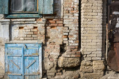 Alte Scheunentür blau gemalt Lizenzfreies Stockbild
