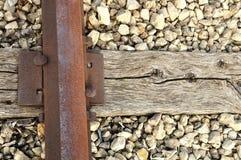 Alte Schiene und Bindung lizenzfreies stockfoto