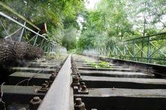 Alte Schienen Stockfotografie