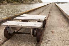 Alte Schienenlaufkatze Lizenzfreie Stockfotografie