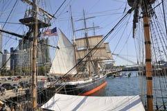 Alte Schiffe in San Diego, Kalifornien Lizenzfreie Stockfotos