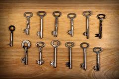 Alte Schlüssel eingestellt Lizenzfreies Stockbild