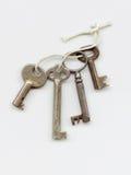 Alte Schlüsselzeichenkette Stockfotografie