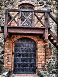 alte Schlosstüren Stockfotos