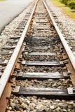 Alte schmale Bahnstrecken Lizenzfreies Stockfoto