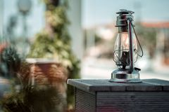 Alte Schmieröl-Lampe Stockfotografie