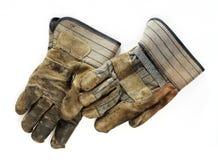 Alte schmutzige Arbeits-Handschuhe Lizenzfreie Stockfotografie