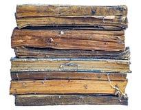 Alte schmutzige Bücher gestapelt Lizenzfreie Stockfotografie