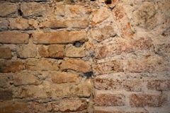 Alte schmutzige Backsteinmauer Stockbilder