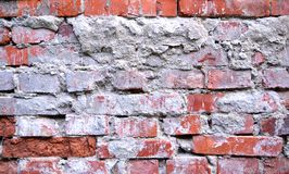 Alte schmutzige Backsteinmauerbeschaffenheit Stockfotografie