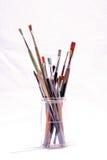 Alte schmutzige benutzte Malerpinsel Lizenzfreie Stockfotografie