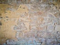 Alte schmutzige Beschaffenheitsmusterbacksteinmauer und sein altes gemalt lizenzfreie stockbilder