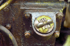 Alte schmutzige Bewegungsmaschine Stockfotografie