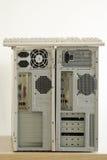 Alte schmutzige Computer und keybord Stockbilder