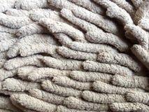 Alte schmutzige Fußmatte für sauberen und Abwischenfuß Lizenzfreie Stockbilder