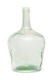 Alte schmutzige grüne Glasflasche Stockbild