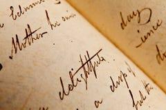 Alte Schreiben - Muttertageshintergrund Lizenzfreie Stockfotos