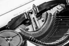 Alte Schreibmaschine - guten Rutsch ins Neue Jahr 2015 Lizenzfreie Stockfotos
