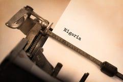 Alte Schreibmaschine - Nigeria stockfoto