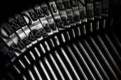 Alte Schreibmaschinen-Tasten Stockfotos