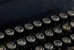 Alte Schreibmaschinentasten Stockfotos