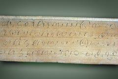 Alte Schriften Stockfotografie
