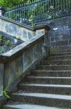 Alte Schritte in Edinburgh stockbild