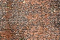 Alte schroffe Backsteinmauer Lizenzfreies Stockfoto