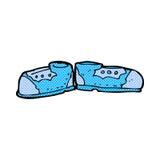 alte Schuhe der komischen Karikatur Lizenzfreie Stockfotos