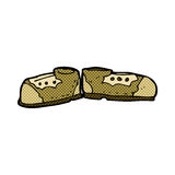 alte Schuhe der komischen Karikatur Lizenzfreies Stockbild