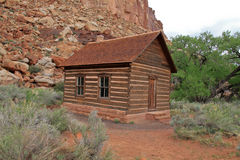 Alte Schulhaus in der Utah-Wüste stockbild