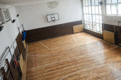 Alte Schulturnhalle Stockbild
