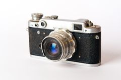 Alte schwarze Fotokamera Lizenzfreies Stockfoto
