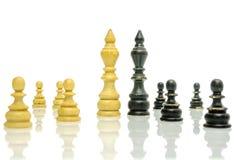 Alte Schwarzweiss-Schachzahlen Lizenzfreie Stockfotos