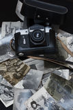 Alte Schwarzweiss-- und Sepiafotos weinlese Lizenzfreies Stockfoto