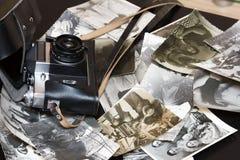 Alte Schwarzweiss-- und Sepiafotos weinlese Lizenzfreies Stockbild
