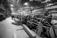 Alte schwere Fabrik Stockfoto
