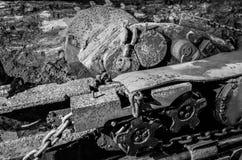 Alte schwere Minenmaschiene Lizenzfreies Stockfoto