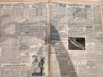 Alte sechziger Jahre Schwarzweiss-Zeitung der Sowjetunions Lizenzfreie Stockfotografie