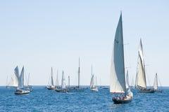 Alte Segelnboote in den Imperia Lizenzfreie Stockfotografie