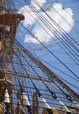 Alte Segelnbootstakelung Lizenzfreie Stockbilder