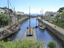 Alte Segelschiffe im Hafen Stockfotografie
