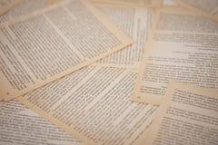 Alte Seiten des gelben Buches, Hintergrund lizenzfreie stockbilder
