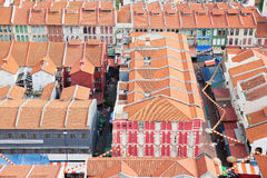 Alte Shop-Häuser Singapurs Chinatown Lizenzfreie Stockfotos